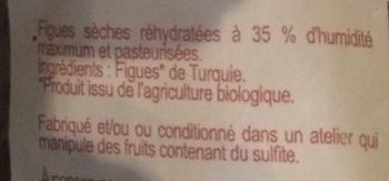 Figues Moelleuses Biologiques - Ingrédients - fr