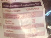 Figues Moelleuses Biologiques - Informations nutritionnelles - fr