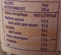 Péches lamelles - Informations nutritionnelles - fr
