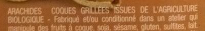 Arachides coques grillés - Ingrédients - fr