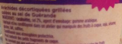 Cacahuétes grillées salées - Ingrédients - fr