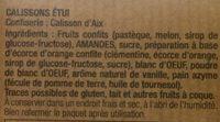 Calissons d'Aix - Ingrediënten