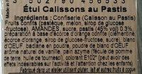 Calissons au pastis - Ingrediënten