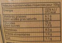 Mélange japonais - Nutrition facts