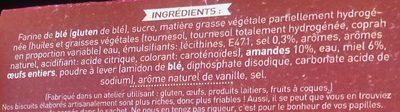 Croquants Amandes et Miel - Ingrédients - fr