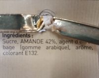 Dragées Avola aux amandes de sicile - Ingredients