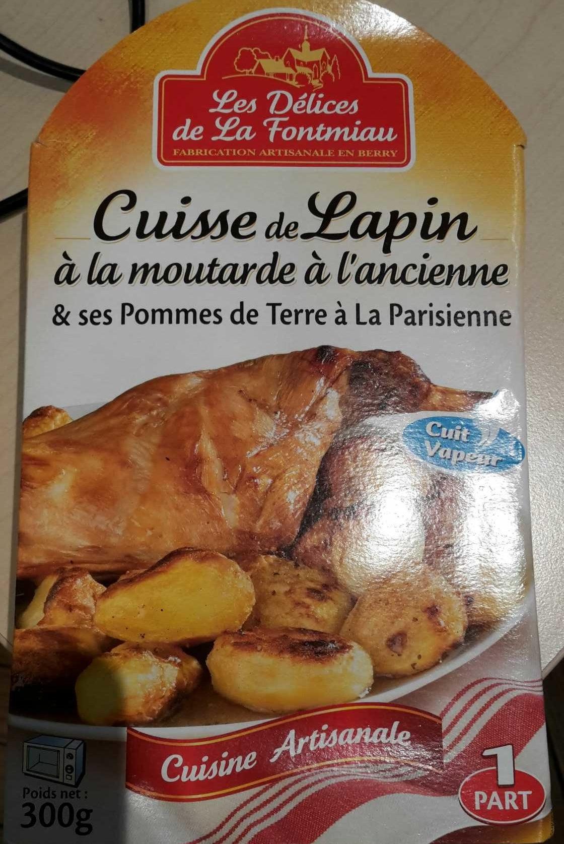 Cuisse de Lapin à l'Ancienne & ses Pommes de Terre à la Parisienne - Product - fr