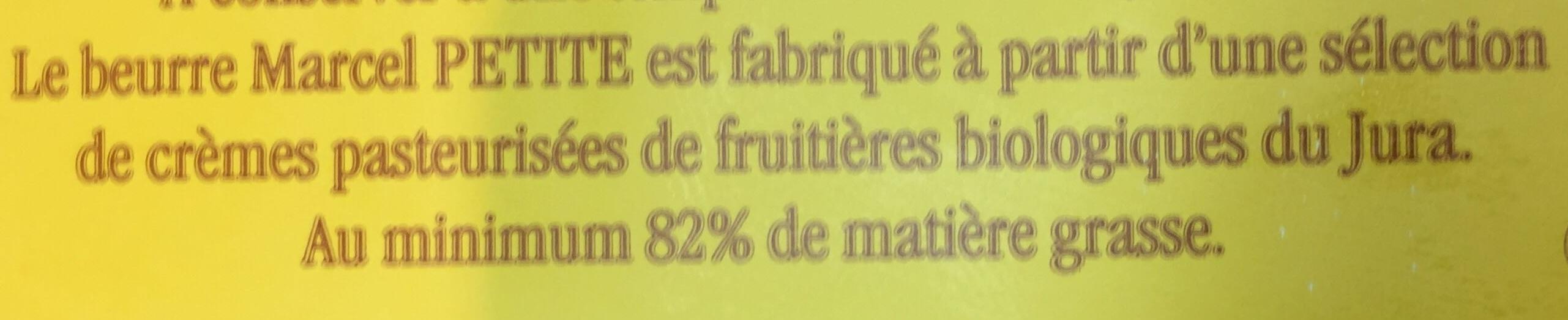 Beurre biologique - Ingredients - fr