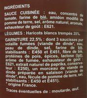 Cassolette De Volaille Ptit Gourmand - Ingrediënten - fr