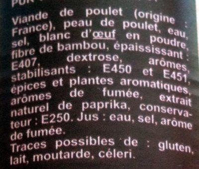 Saucisses Cocktail à la Volaille - Ingrediënten - fr