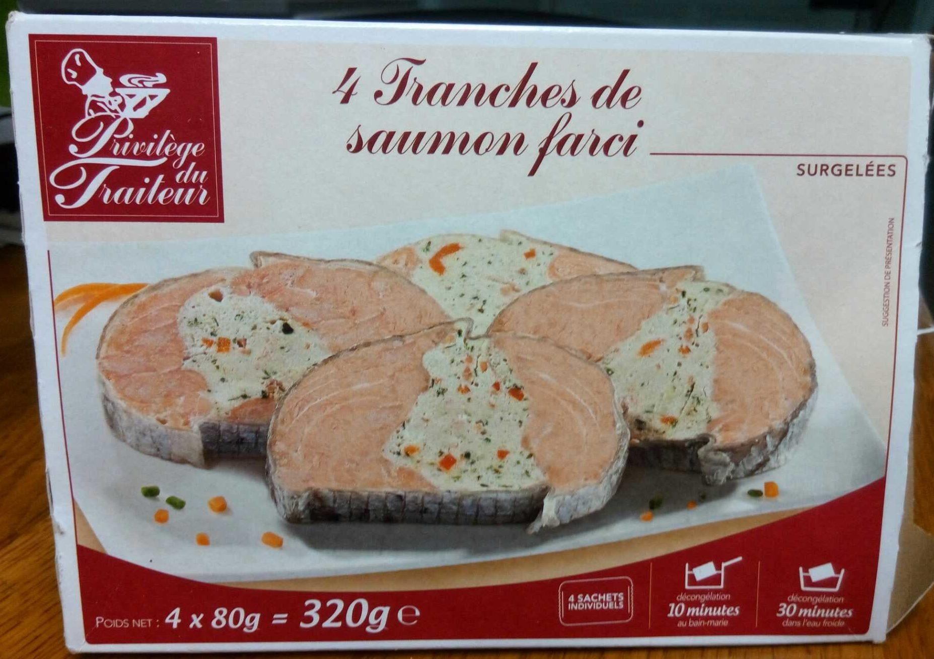 4 Tranches de saumon farci - Produit