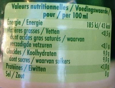 Granini Orange - Informations nutritionnelles - fr