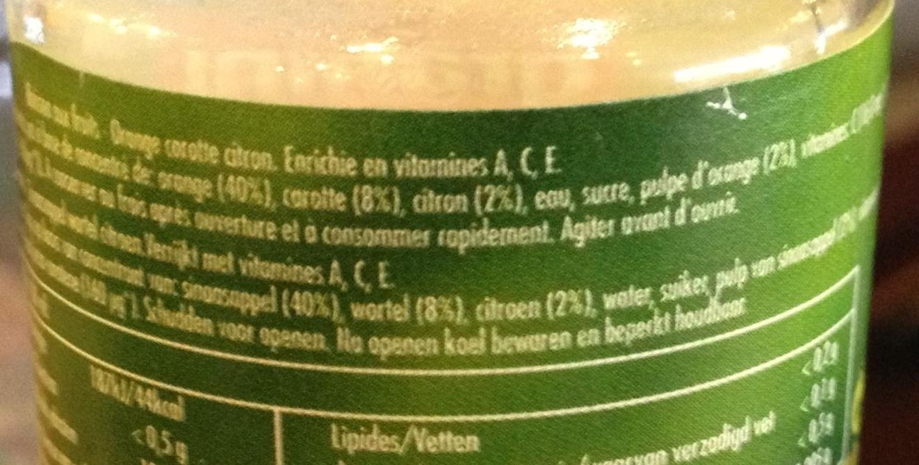 Boisson ACE - Ingrédients - fr