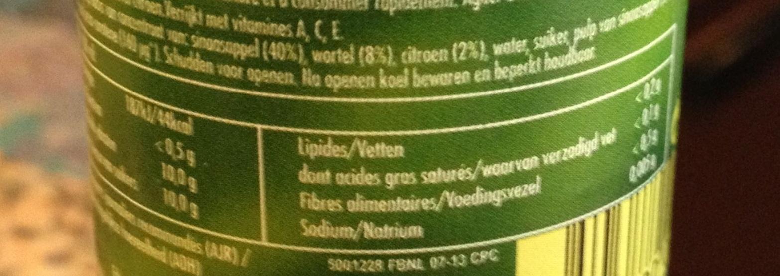 Boisson ACE - Informations nutritionnelles - fr