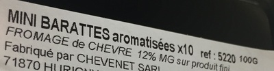 Mini barattes - Informations nutritionnelles - fr