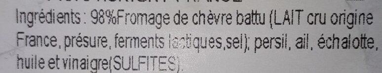 Cervelle Canut Richard - Ingrédients - fr