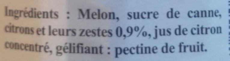 Confiture extra melon de Provence au citron - Ingredients - fr