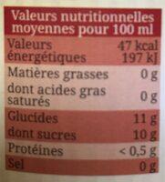 Pur jus de Pomme du Lot-et-Garonne Bio Equitable - Valori nutrizionali - fr