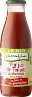 Pur jus de Tomate salé 3g/l de Marmande Bio Equitable - Product - fr
