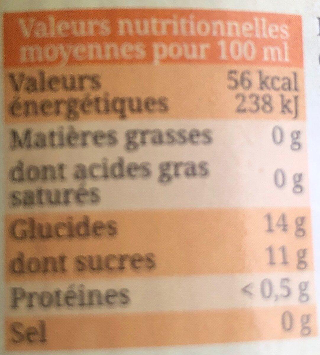 Nectar d'abricot du Pays d'Oc - Valori nutrizionali - fr