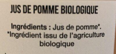 Pur Jus de Pomme du Lot et Garonne Bio - Ingrediënten - fr