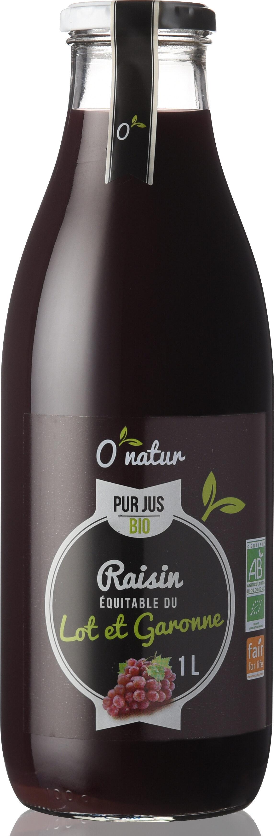 Pur Jus de Raisin du Lot et Garonne Bio Equitable - Prodotto - fr