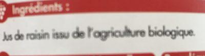 Pur Jus de Raisin du Lot et Garonne Bio Equitable - Ingredienti - fr