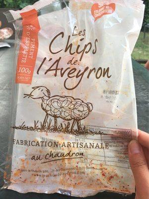 Les chips de l'Aveyron au piment d'Espelette - Produit