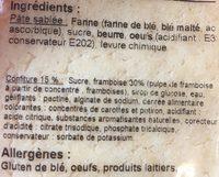 Sable Framboise - Ingrédients - fr