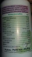 Glutathion Intracel 400 MG - 90 Gélules - MGD - Informations nutritionnelles