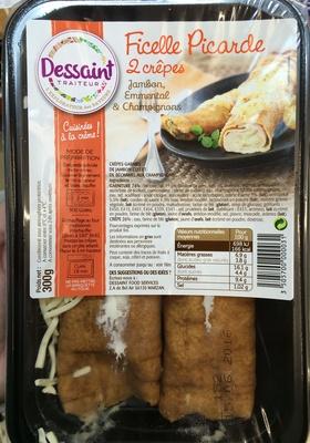 Ficelle Picarde 2 crêpes Jambon, Emmental & Champignons - Product - fr