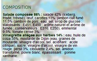 Salade Jambon Emmental - Ingrédients - fr