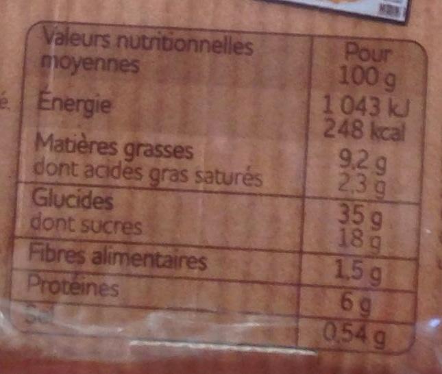 8 crêpes sucrées - Nutrition facts
