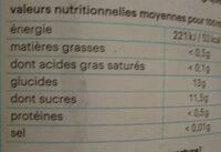 Pur jus de pomme tremplin - Valori nutrizionali - fr