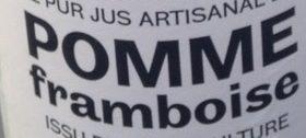 Pur Jus Artisanal de Pomme Framboise - Ingrédients