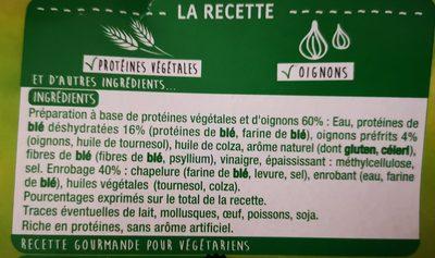 Nuggets blé oignons - Ingrédients