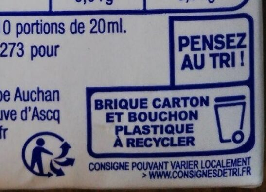 Soja cuisine - Recycling instructions and/or packaging information - fr