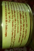Terrine de faisan aux noix - Nutrition facts - fr