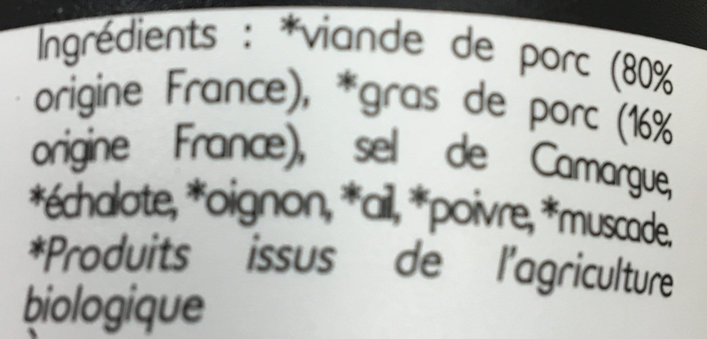 Rillettes du mans supérieures - Ingrédients - fr