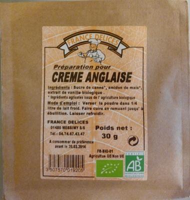 Préparation pour Crème Anglaise - Produit