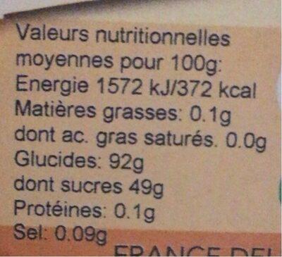 Preparation Pour Creme Patissiere - Nutrition facts - fr