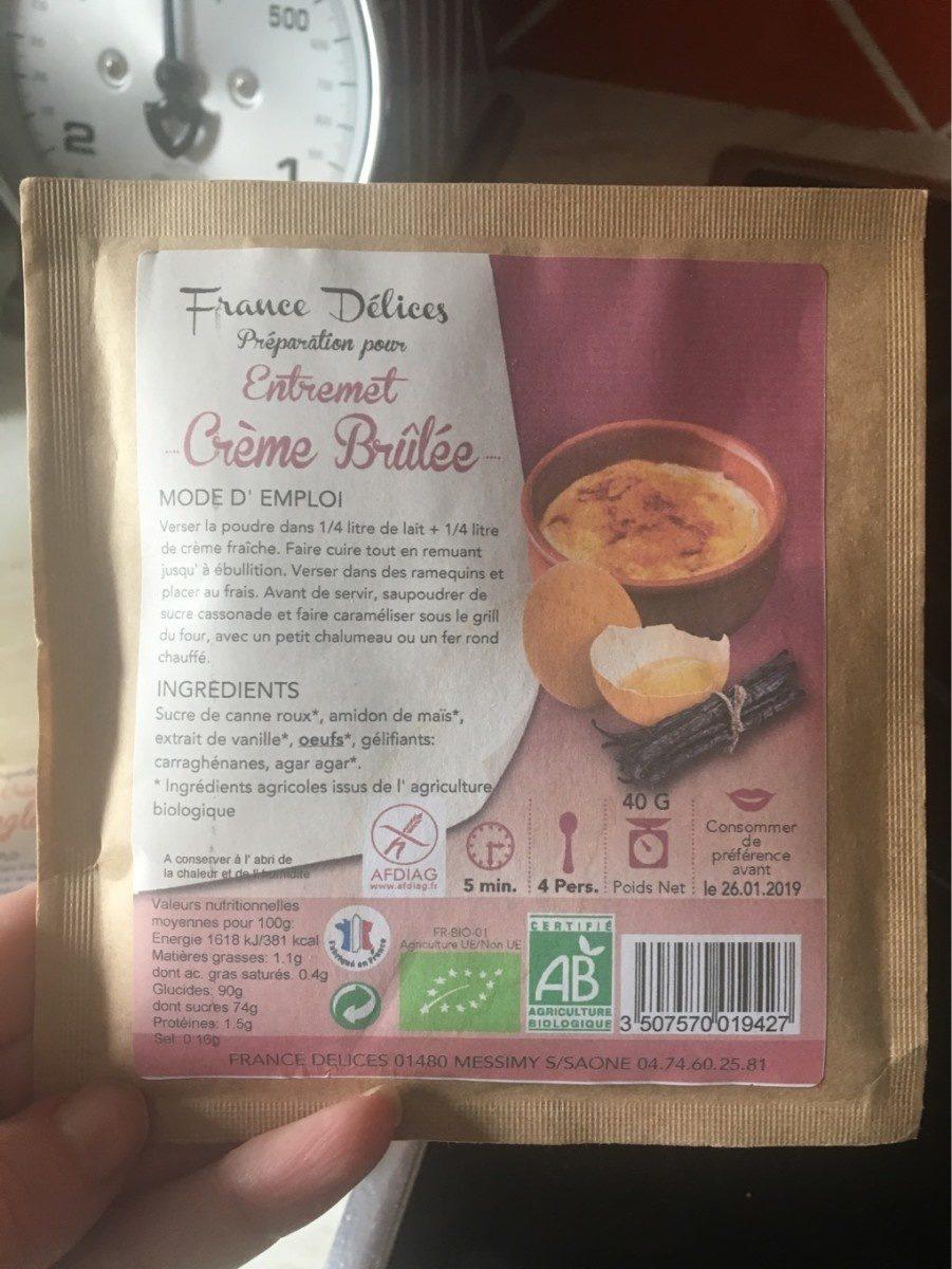 Préparation pour Entremet Crème Brûlée - Product