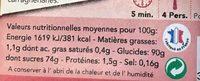 Préparation pour Entremet Crème Brûlée - Nutrition facts