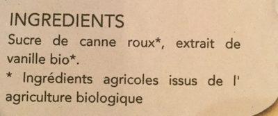 Sucre Vanille 32G - Ingrédients