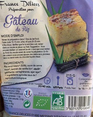 Préparation pour Gâteau de Riz Bio - Product - fr