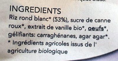 Préparation pour Gâteau de Riz Bio - Ingredients - fr