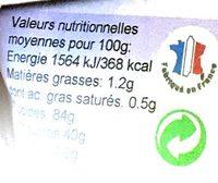 Préparation pour Gâteau de Riz Bio - Nutrition facts - fr