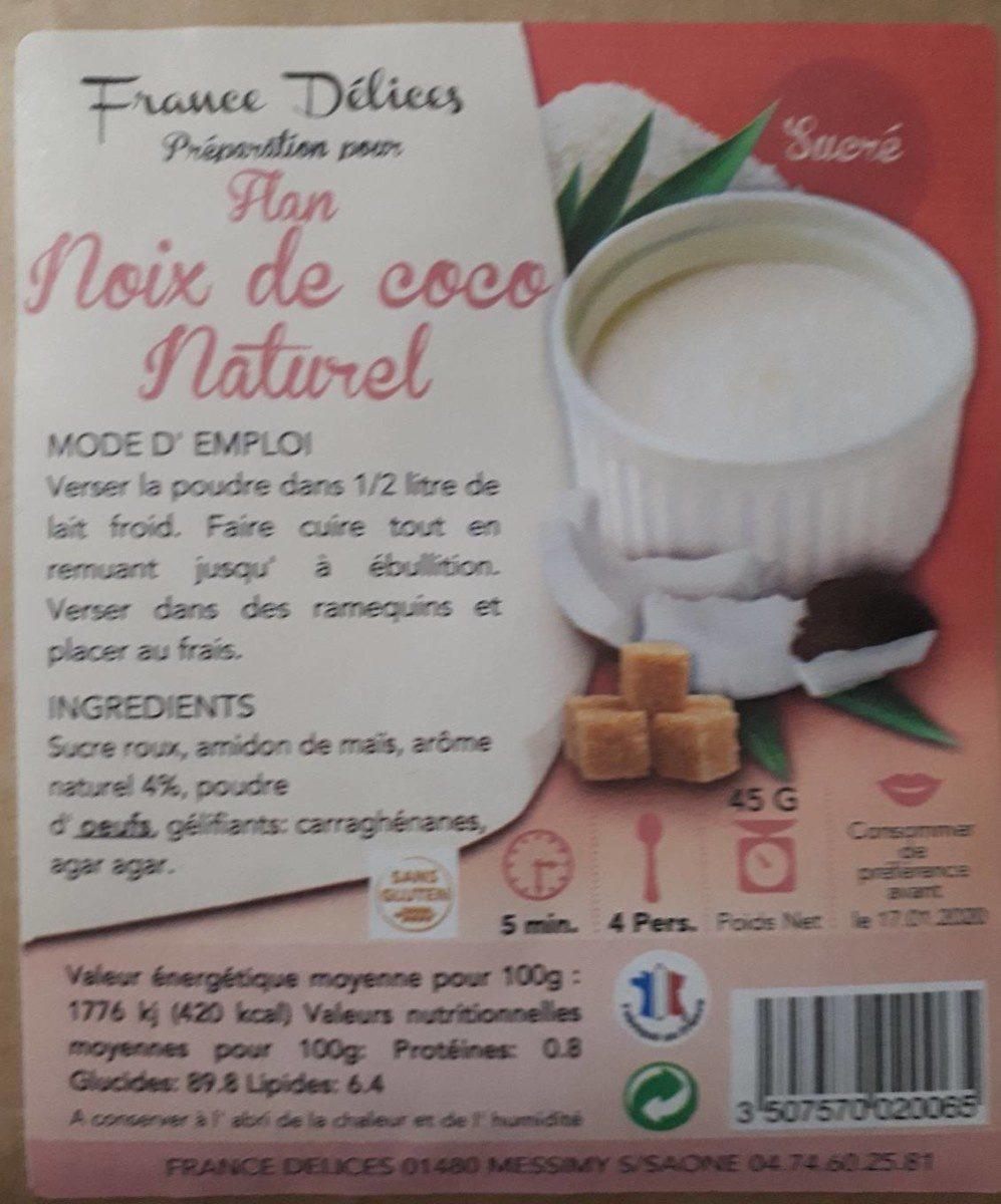 Préparation pour flan noix de coco - Produit - fr