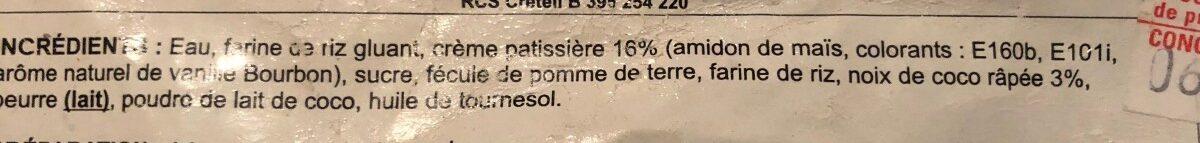 Perle de Coco - Ingredients - fr