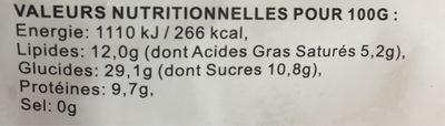 Perles De Coco 016 PCS - Nutrition facts - fr